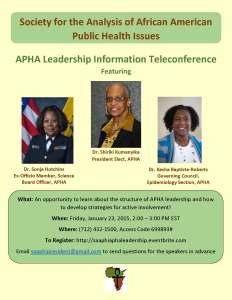 APHA Leadership Information Teleconference